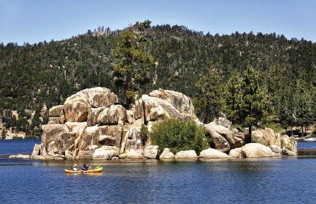 Canoing Big Bear Lake