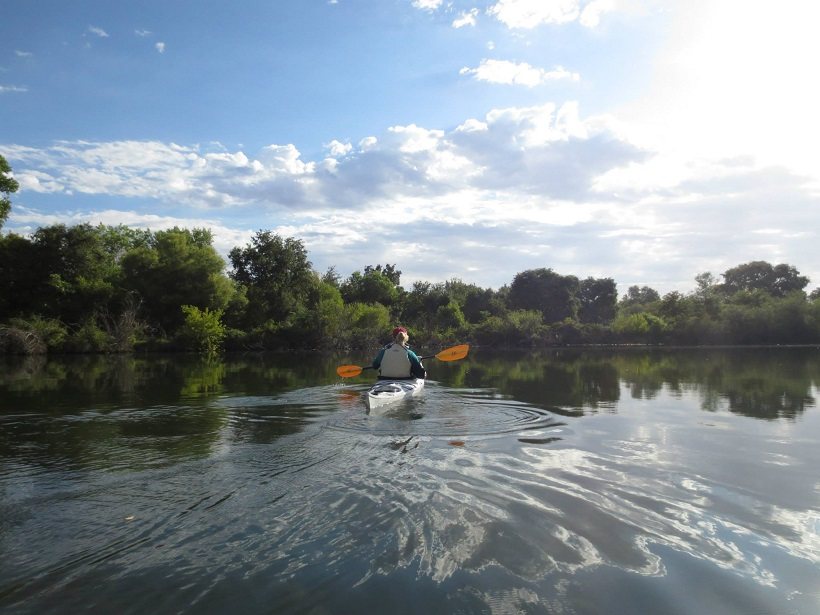 Kayaking the Mokelumne River