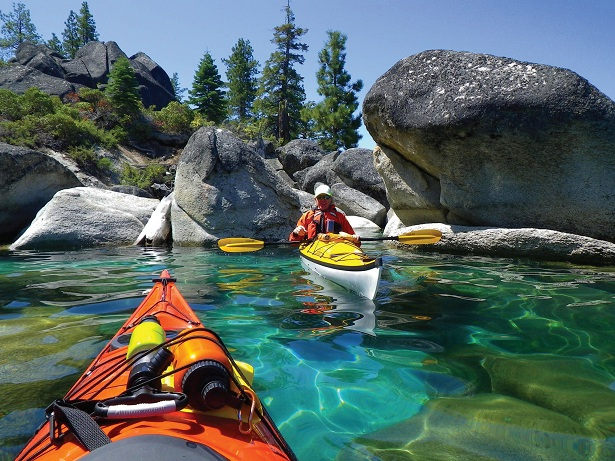 Kayaking Lake Tahoe