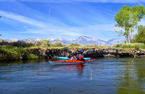 kayak fishing owens river