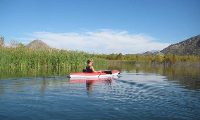 Kayaking Lake Perris