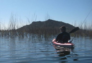 Canoeing Lake Perris