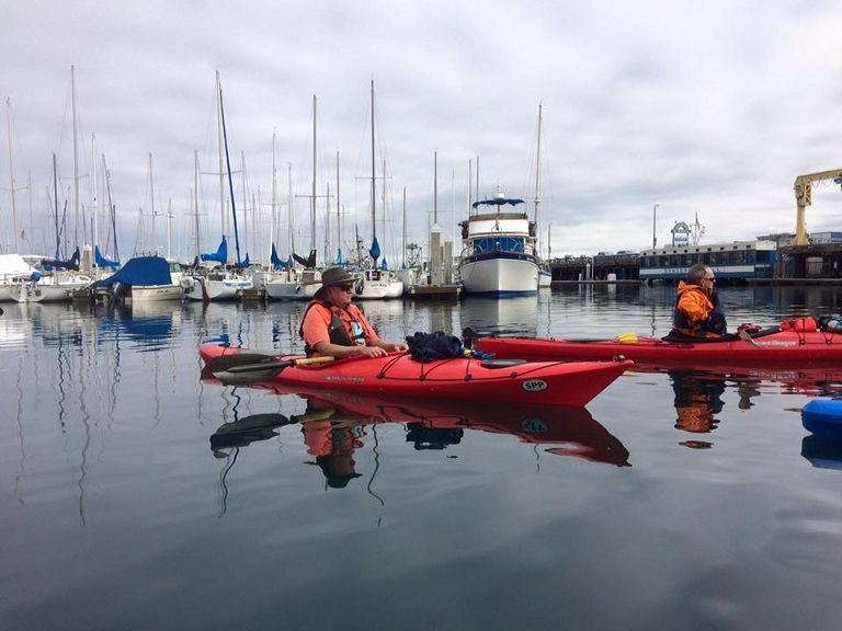 kayaking monterey Bay