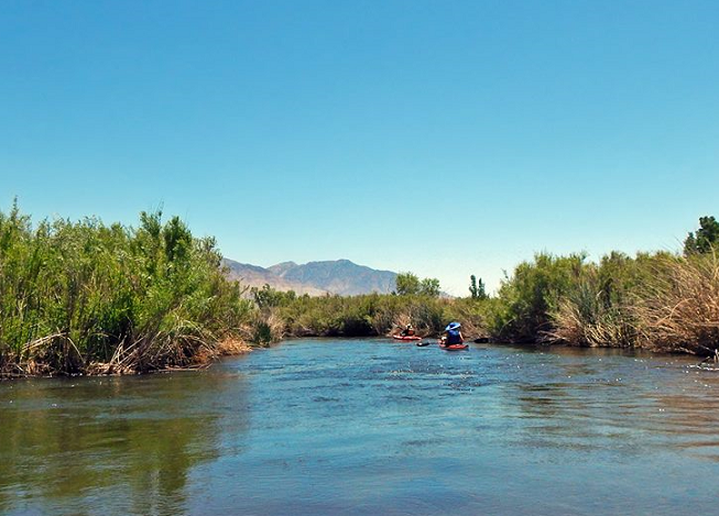 kayaking lower owens river