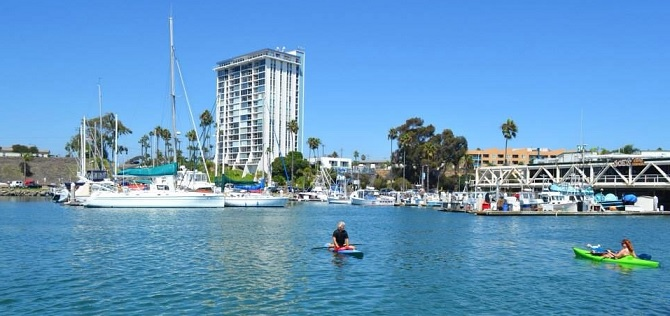 kayaking Oceanside harbor
